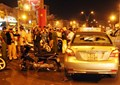 Gần 30 cảnh sát 113 và cơ động ngăn chặn vụ đập xe ở khu vực ngã tư Bảy Hiền